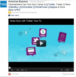 Amex Twitter screen capture