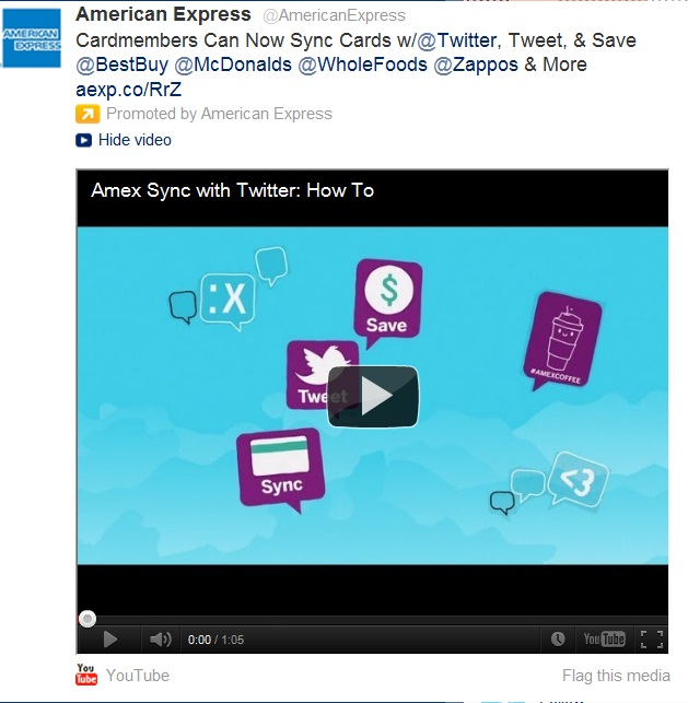 Earlier this week, American Express and Twitter announced a partnership (similar to Amex' existing deal with FourSquare) that will allowthe companyto leverage social mediamining to push relevent offers to customers […]